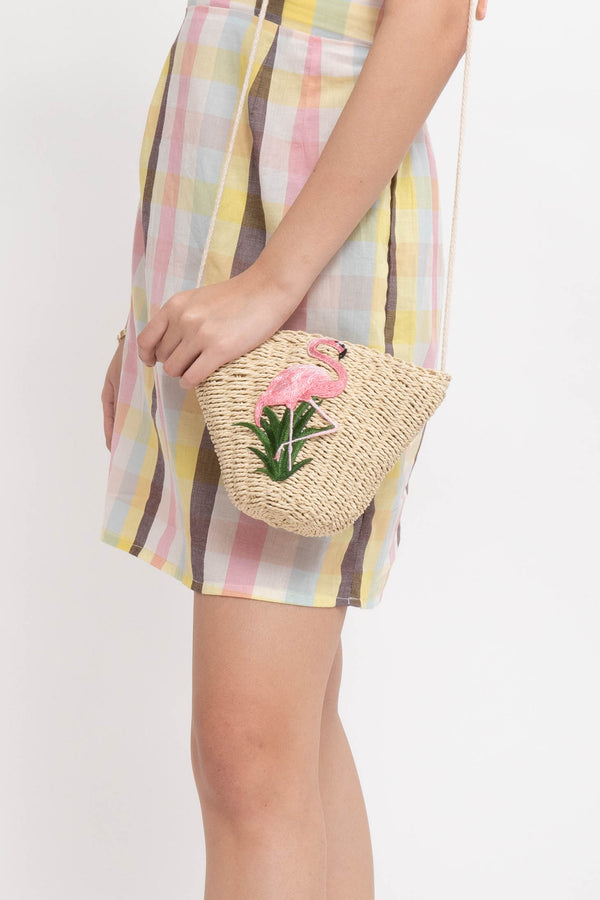 FLAMINGO RATTAN BAG