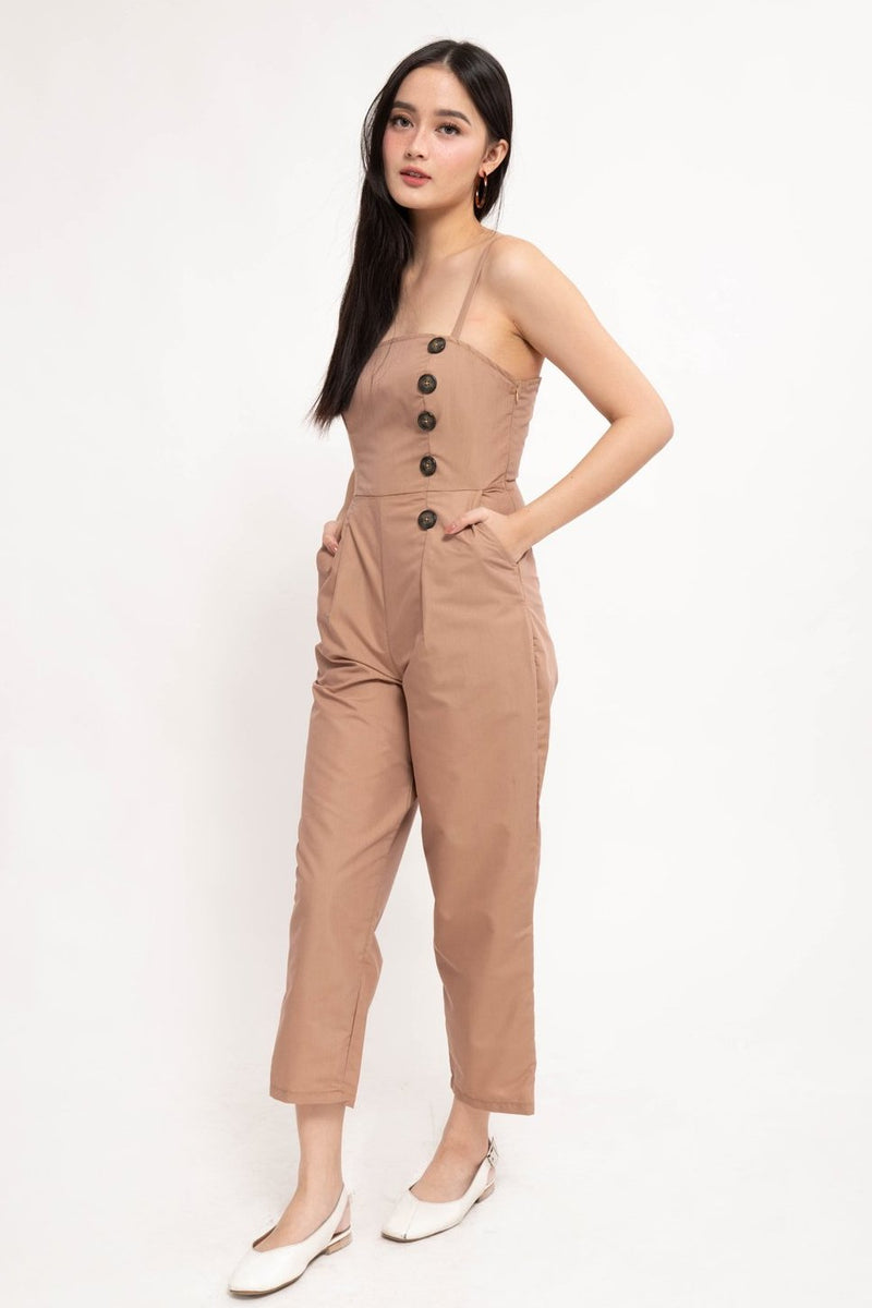 YANA JUMPSUIT - BROWN