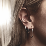 Pendientes HOOP (18 mm) | Blacklady Jewels