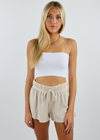 Stay Home Club Henley Shorts Set ★ Oatmeal