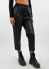Falling Angel Faux Leather Pants ★ Black