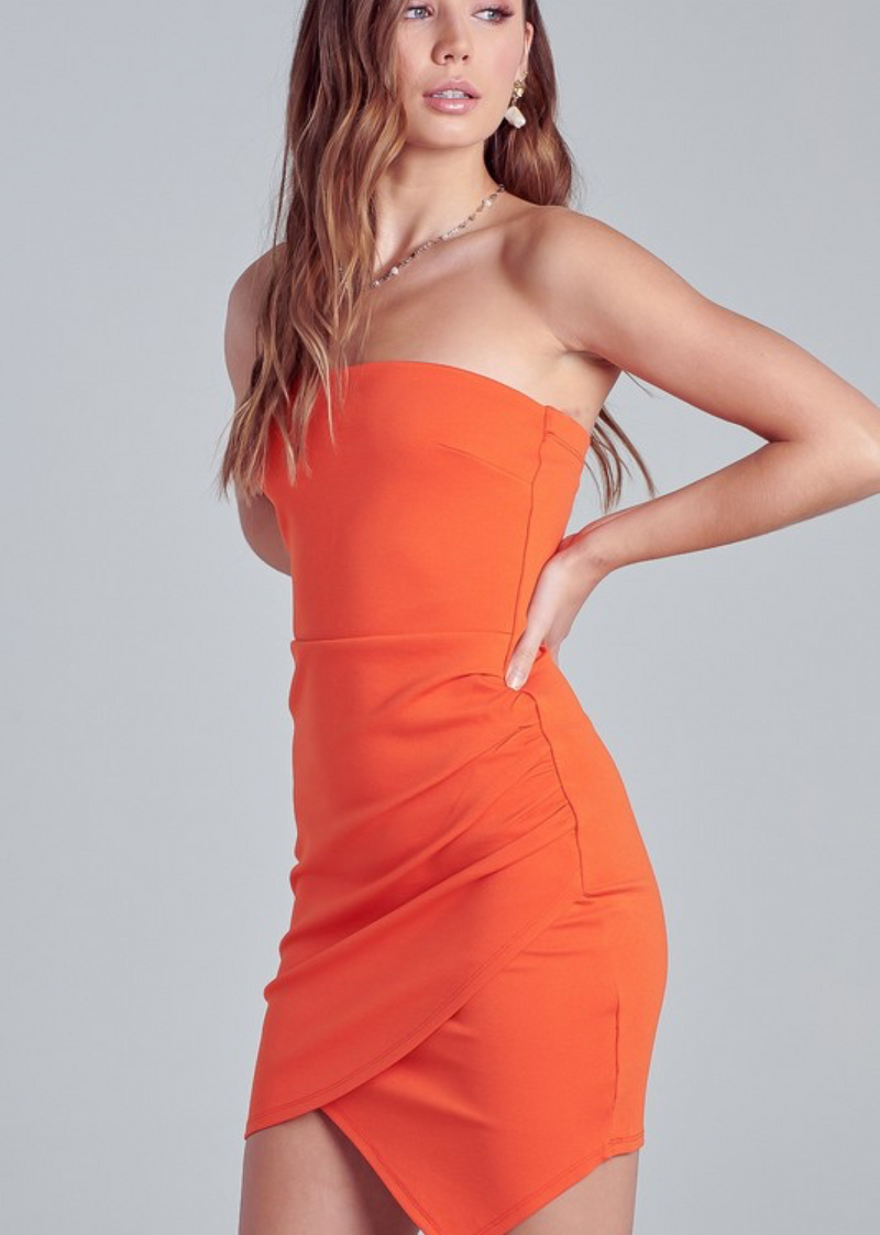 Uptown Girl Dress ★ Orange - Rock N Rags