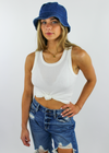 Dream Girl Bucket Hat ★ Dark Wash Denim