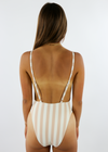 Baywatch Plunge One Piece ★ Blush Stripes - Rock N Rags