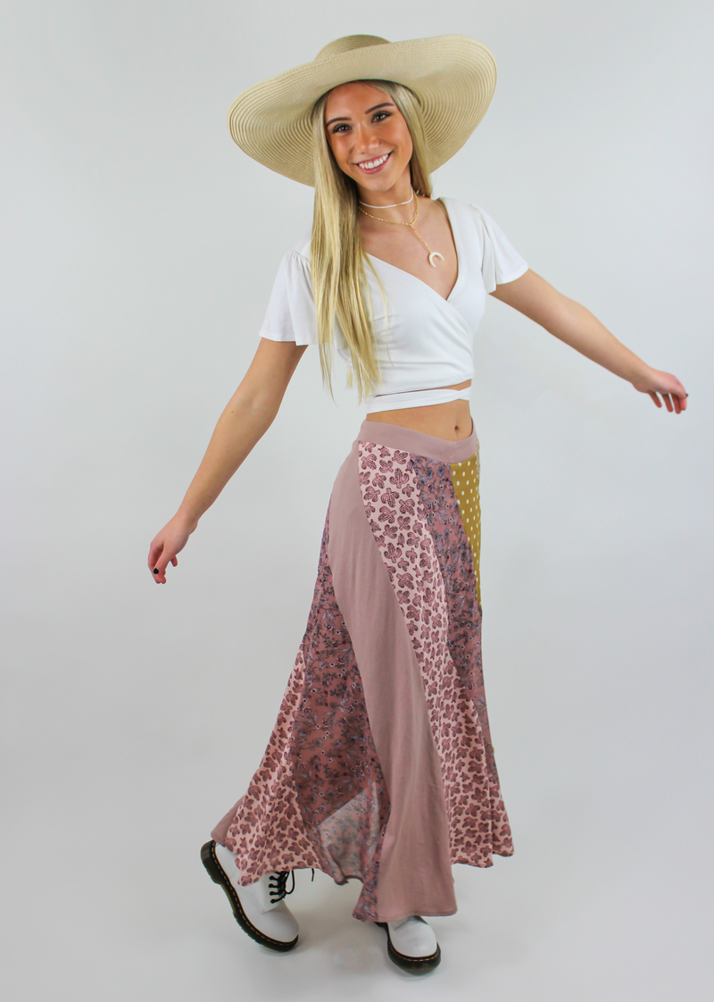 Girl At Coachella Skirt ★ Mixed Print - Rock N Rags