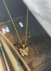 Iced Butterfly Pendant ★ Gold