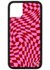 Pink Crazy Checkers iPhone Case ★ Pink