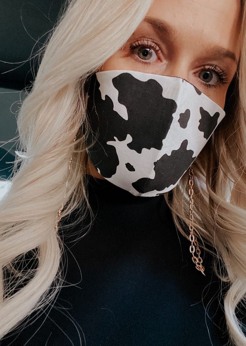 Moo Moo Face Mask ★ Cow Print