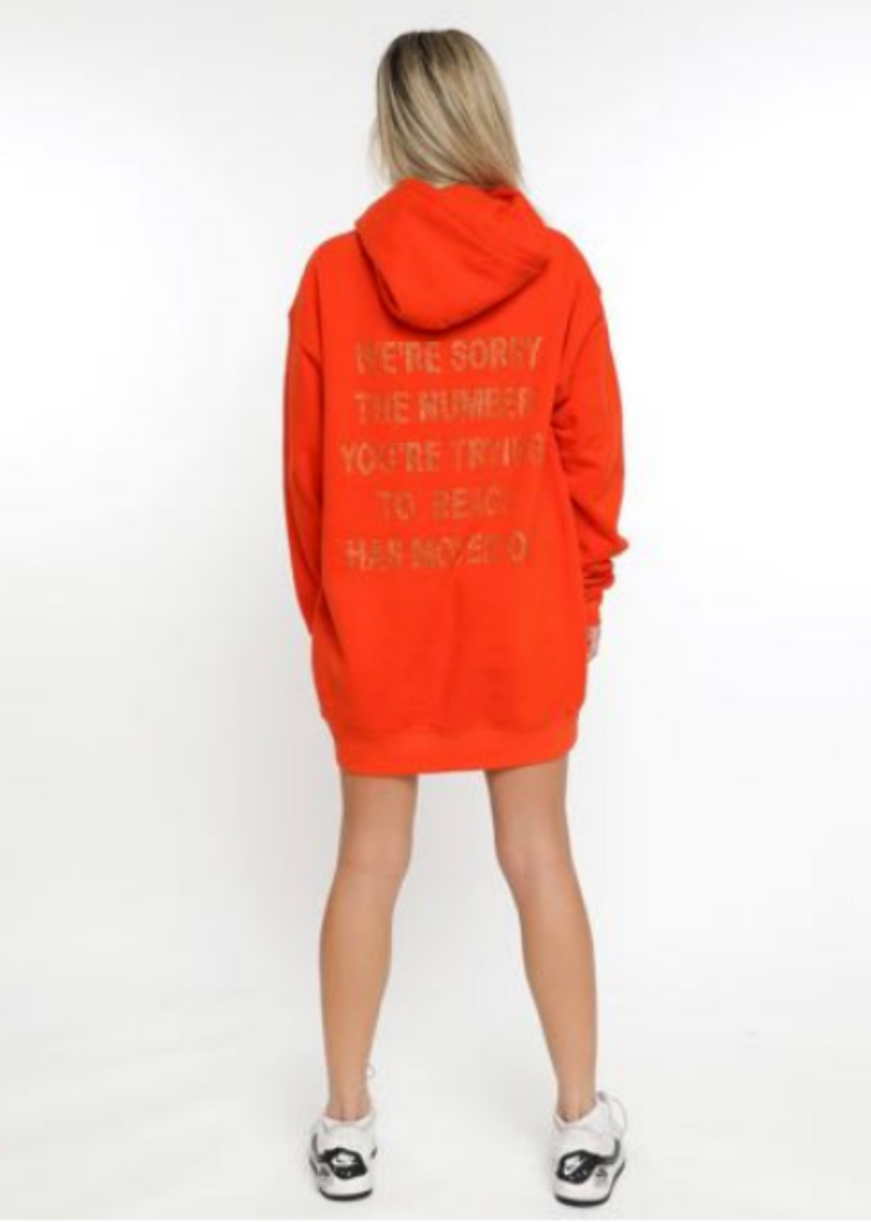Boys Lie 1-800 Remix Hoodie ★ Orange
