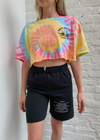 Boys Lie Within Us Tie Dye Cropped Tee  ★ One Size