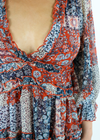 All Summer Long Dress ★ Burnt Orange and Ocean Blue - Rock N Rags