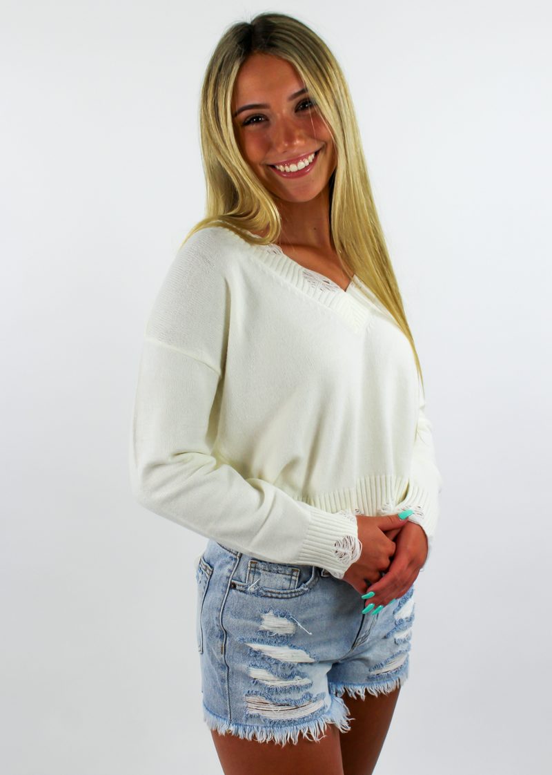 The Sweet Life Sweater ★ Ivory - Rock N Rags