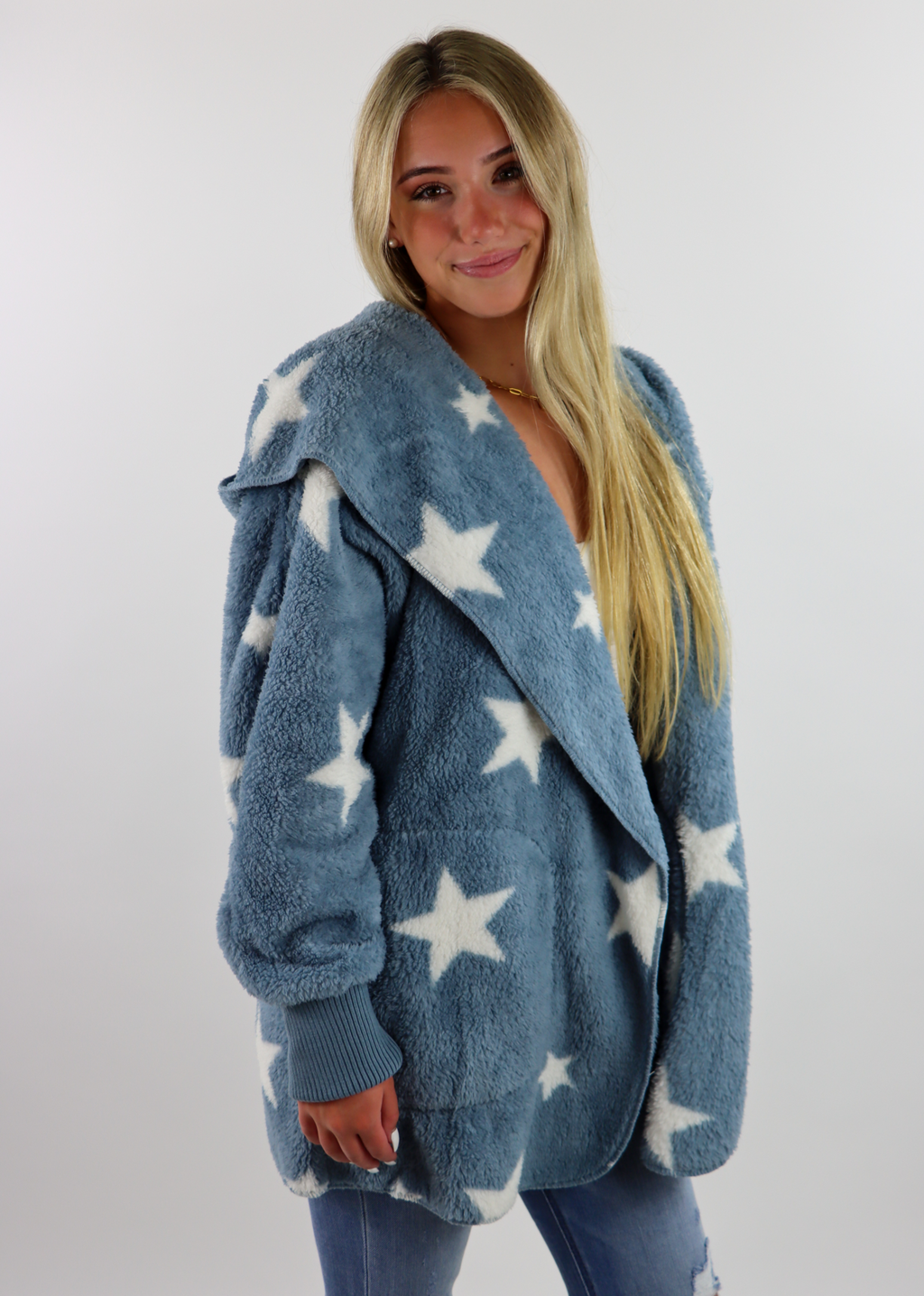 Fuzzy Star Jacket ★ Dusty Blue