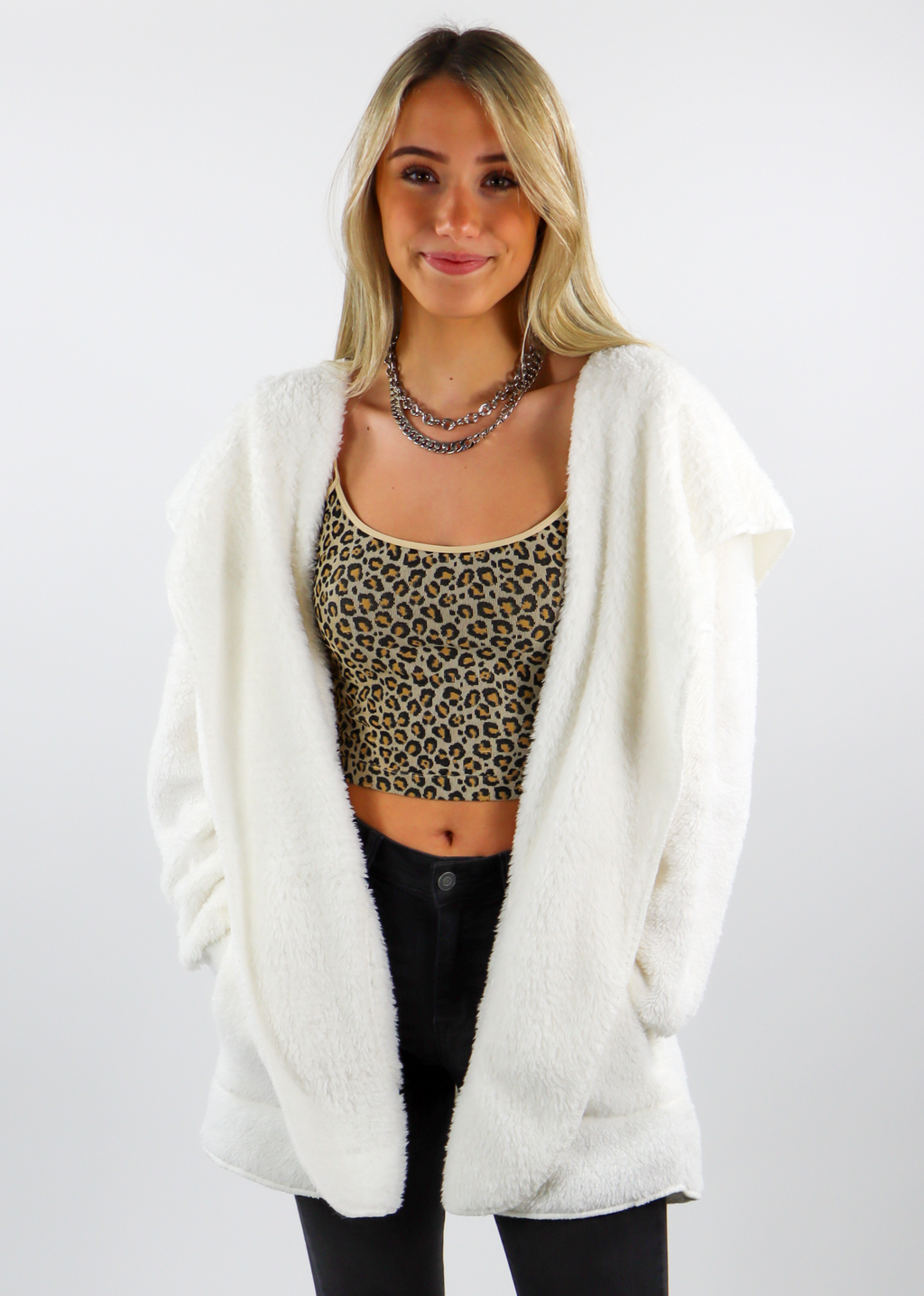 Fuzzy Jacket ★ White