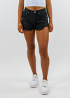Run The World Shorts ★ Black Denim - Rock N Rags
