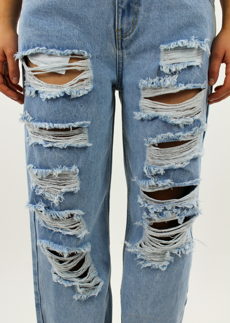 Tear It Up Boyfriend Jeans ★ Light Wash Denim - Rock N Rags