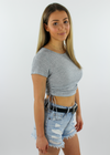 After Party Top ★ Heather Grey - Rock N Rags