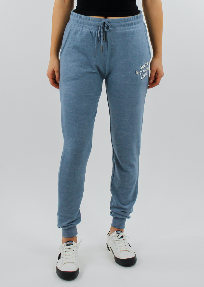 Social Distancing Club Joggers ★ Dusty Blue - Rock N Rags