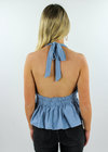 It's Our Time Halter Top ★ Chambray Blue