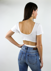 Freedom Crop Top ★ White - Rock N Rags