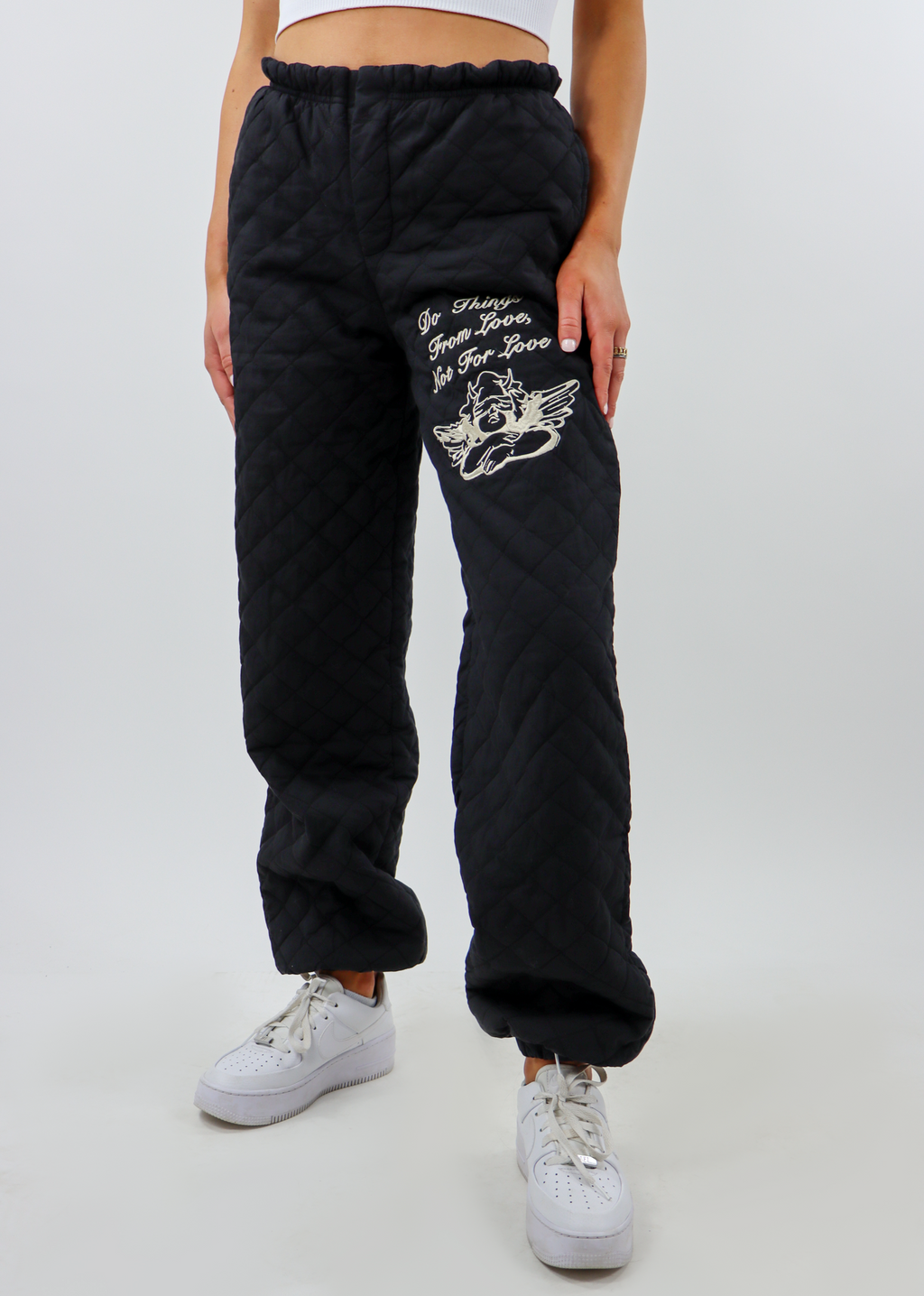 Boys Lie For Love Quilted Pants ★ Black