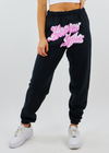 Boys Lie Heaven Sighs Sweatpants ★ Pink and Black