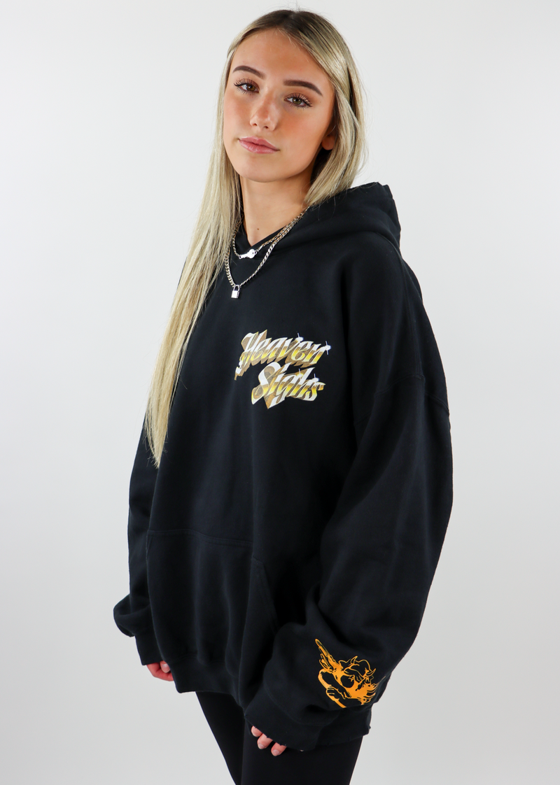 Boys Lie Heaven Sighs Hoodie ★ Black and Gold