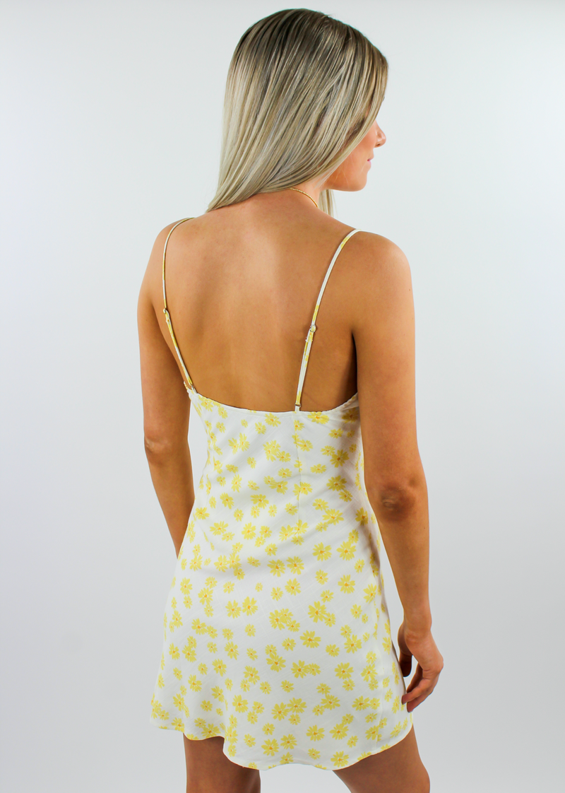 Here Comes The Sun Dress ★ Yellow Floral - Rock N Rags