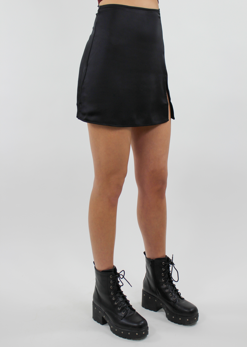 Say Less Skirt ★ Black - Rock N Rags