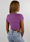 Nice For What Short Sleeve Sweater ★ Purple