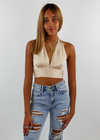 Come Thru Silky Halter Top ★ Nude