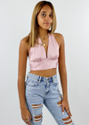 Come Thru Silky Halter Top ★ Mauve