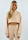 Lazy Sunday Cropped Hoodie ★ Beige