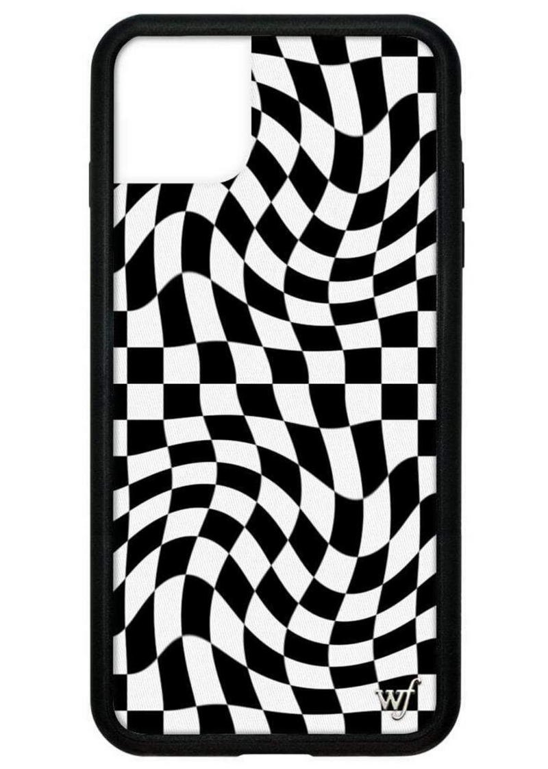Crazy Checks Wildflower iPhone Case ★ Black & White - Rock N Rags