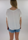 Downtown V-Neck Tee ★ White - Rock N Rags