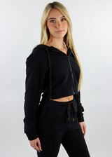 Casual Fridays Zip Up Crop Hoodie ★ Black