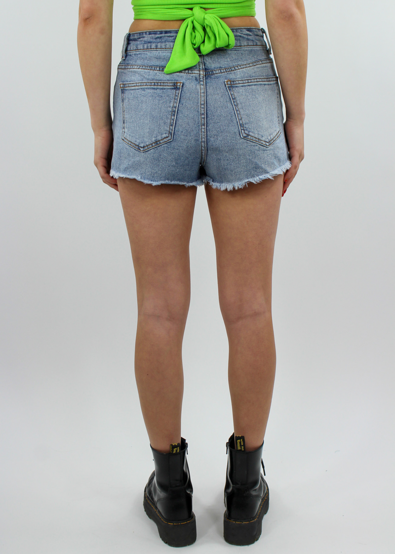 Rockstar Denim Shorts ★ Light Blue