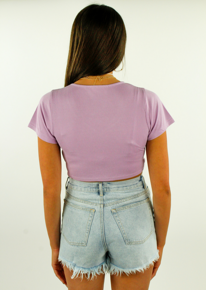 Sorry Not Sorry Top ★ Lilac - Rock N Rags