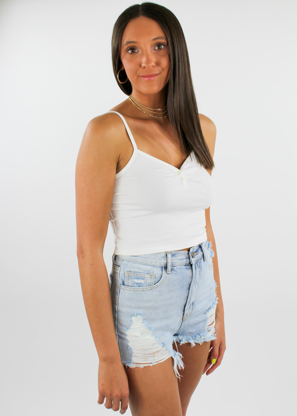 Shake It Off Tank ★ White - Rock N Rags