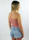 Blinding Lights Tube Top ★ Rose - Rock N Rags