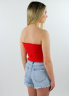 Blinding Lights Tube Top ★ Red - Rock N Rags