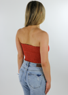Blinding Lights Tube Top ★ Burnt Orange - Rock N Rags