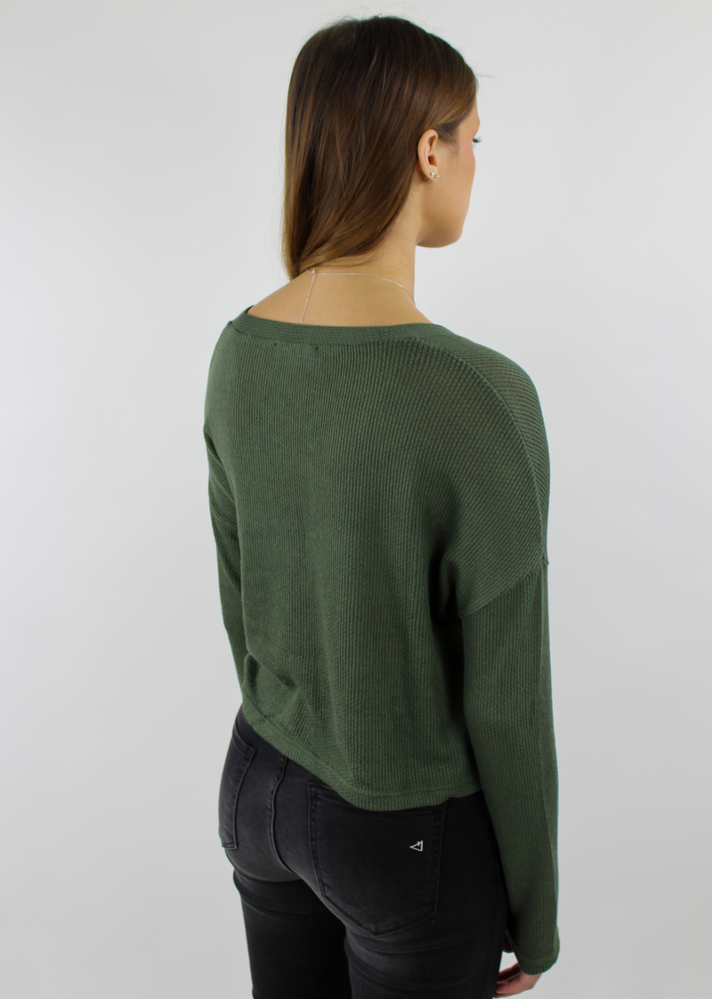 Wonder Wall Sweater ★ Olive Green - Rock N Rags