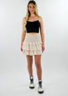 Whats Poppin Skirt ★ Nude - Rock N Rags