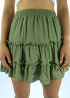 Love Is Alive Skirt ★ Olive - Rock N Rags