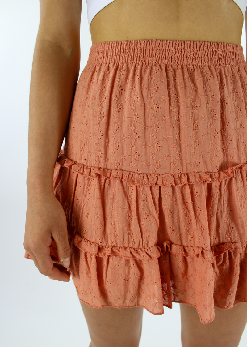 Love Is Alive Skirt ★ Coral - Rock N Rags