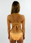 Plaid Girl Bikini Top ⭑ Orange and Yellow
