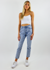 Turn Back Time Straight Leg Jeans ★ Light Wash Denim