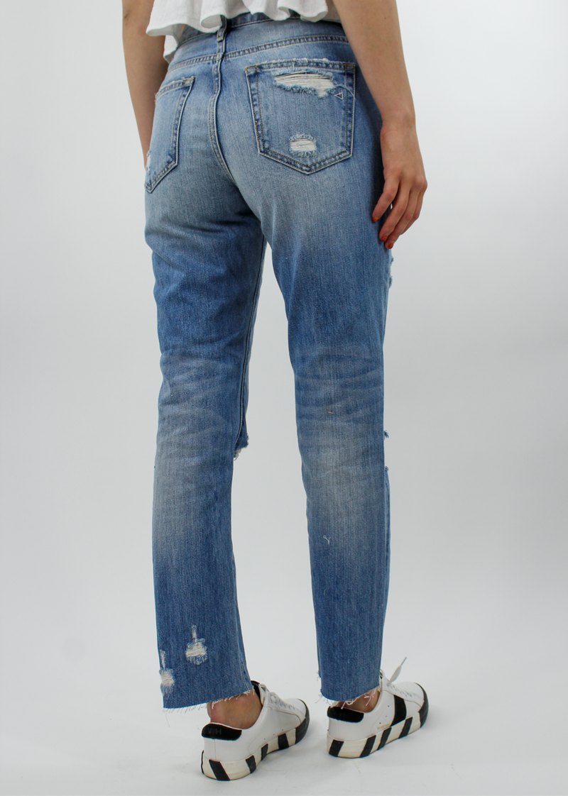 Eleanor Rigby Straight Crop Jean ★ Light Wash Denim - Rock N Rags
