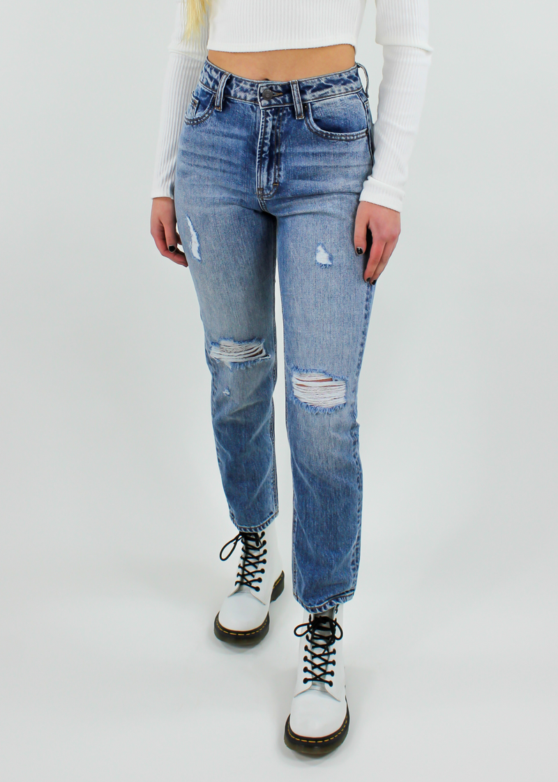 I Like Me Better Straight Leg Jeans ★ Light Wash Denim - Rock N Rags